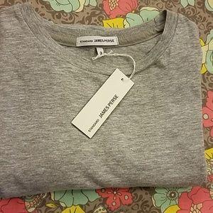 James Perse Women's Grey Crew Neck T-Shirt